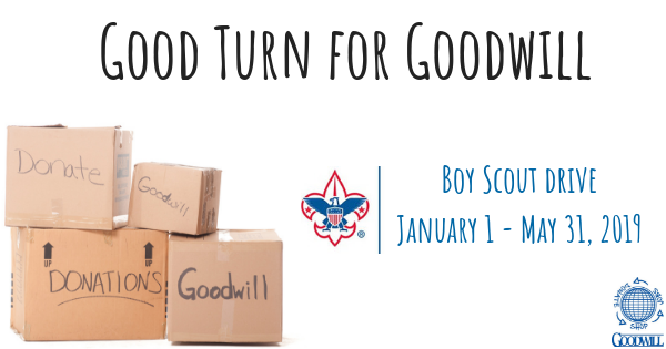 Boy Scouts 2019: Good Turn for Goodwill!